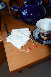 Eco Friendly Tea Bags, 100% Cotton Muslin Reusable Tea Bags