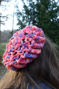 Rose Patterned Beret