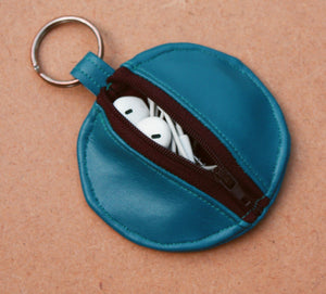 Faux Leather Earbud Pouch