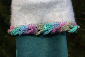 Small Teal Christmas Stocking