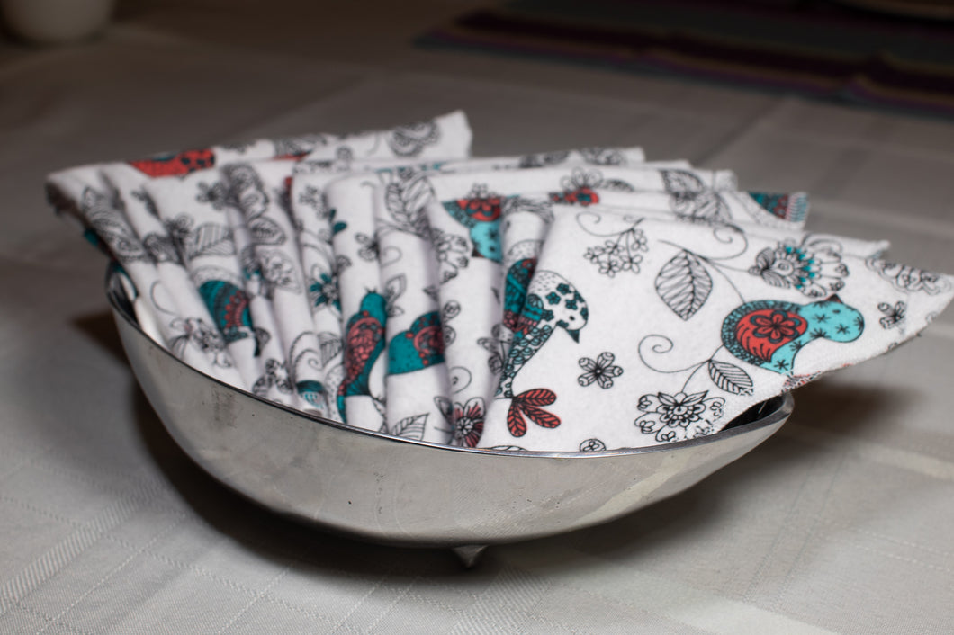 Cloth Napkins, Flannel Napkins, Washable Napkins