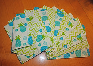 Pineapple and Chevron Reusable Cleaning Kit