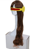 X-Men Cyclops Woman Version Slightly Curly Brown Long Wig