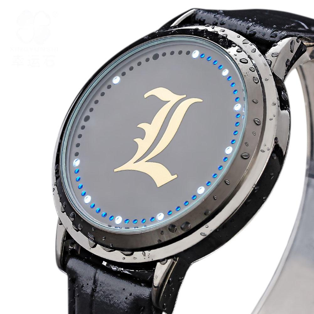 Death Note Watch L Logo Anime Waterproof Touch Screen Wristwatch - Xcoser Costume