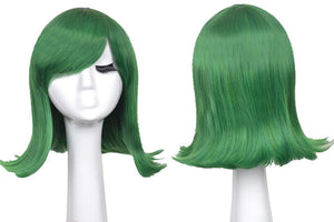 Inside Out Disgust Wig Disney Anime Inside Out Cosplay Short Blue Warping Costume Wig With Free Wig Cap - Xcoser Costume