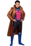 Marvel Gambit Costume Overcoat with Unitard Outfits Gambit Cosplay Halloween Costume