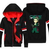 Teenager Zipper Thickened Hoodie with Velvet One Piece Cosplay Costume