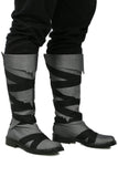 Conan Exiles Conan Flat Knee-high Shoes Calx Body with Black Cloth Stripe Crossed Breathable Stylish and Unisex