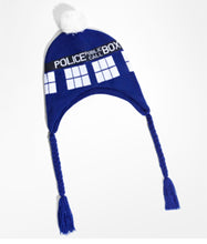 Doctor Who Police Public Call Box Cosplay Hat/Scarf Doctor Who Cosplay Props - Xcoser Costume