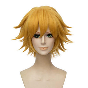 Miraculous Ladybug Cat Noir Wig Short Straight Blonde Wig Cat Noir Cosplay Props - Xcoser Costume