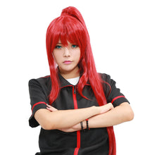 Erza Scarlet Wig Fairy Tail Erza Scarlet Cosplay Long Red Straight Wig With Single Pony Tail - Xcoser Costume