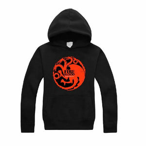 Game of Thrones Hoodie Targaryen Dragon Sweatshirt Costume - Xcoser Costume