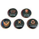 XCOSER Tom Clancy's The Division Camp Logo Badge Brooch Collectible 5PCS Set