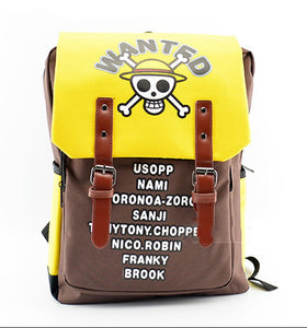 One Piece Luffy Backpack School Bag for Students