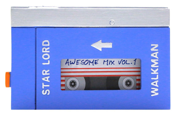 Star Lord Walkman With Blank Tape Resin Prop Openable Guardians of the Galaxy Movie Cosplay