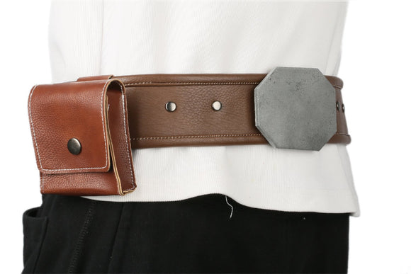 Luke Skywalker Deluxe PU Belt with Small Bag Star Wars: Episode VIII Cosplay Props - Xcoser Costume
