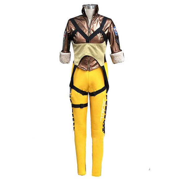 Hot Game Overwatch Tracer Cosplay Costume Halloween Costume - Xcoser Costume