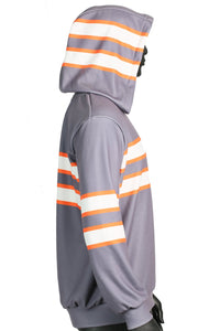 Ghostbusters Gray Uniform Striated Hoodie Cosplay Costume for Adults - Xcoser Costume