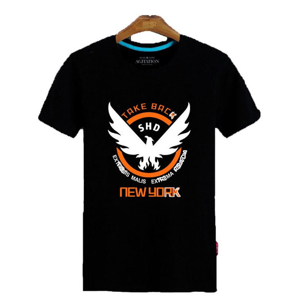 Game Cosplay Costume Summer Black Short Sleeve T-shirt Unisex for The Division - Xcoser Costume