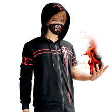 FFF T-shirt Fatal Fire Fukanzenna Cosplay Costume Cotton Zip Up Hoodie T-shirt With Detachable Sleeves - Xcoser Costume