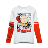 Saitama T shirt One Punch Man Anime Long Sleeve Polyester Tshirt For Men