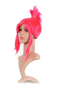 Xcoser Trolls Princess Poppy Cosplay Wig Womens Straight Red Artificial Braid Hair