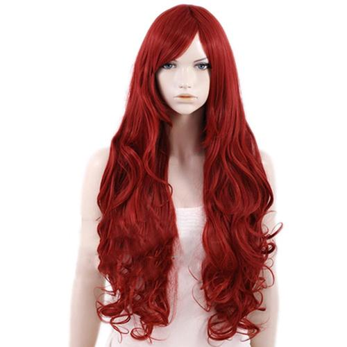X-Men Jean Grey Cosplay Wig Wine Red Long Curly Hair