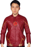 Xcoser New The Flash Classic Red Zipper PU Jacket The Flash Cosplay Costume