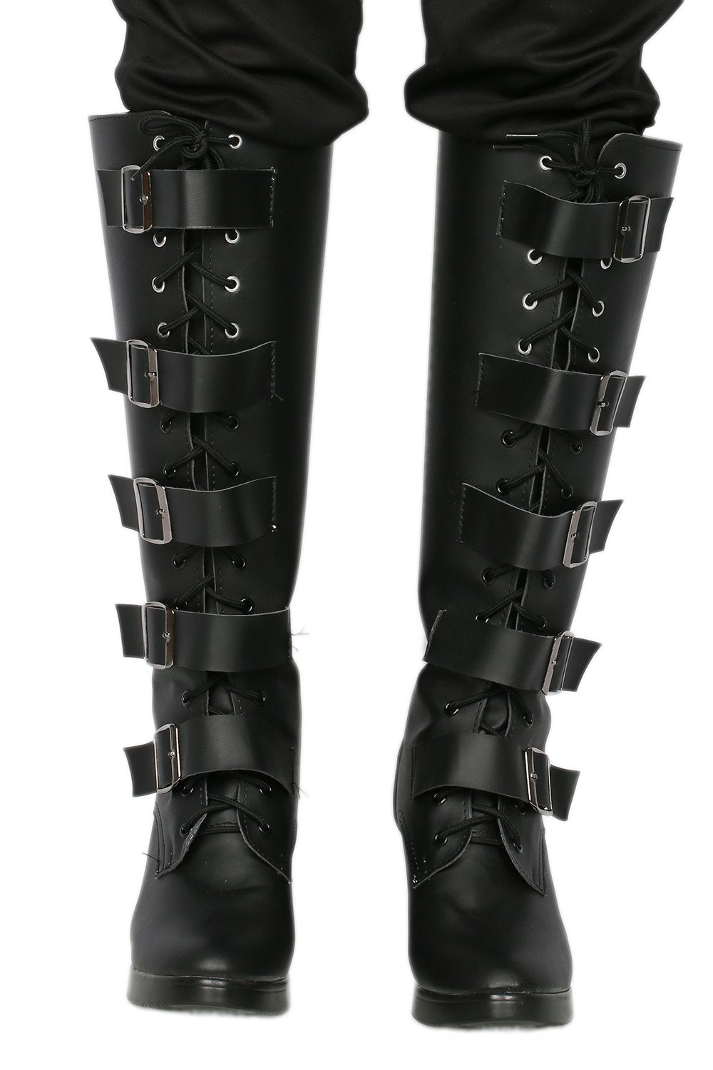 Xcoser Underworld Selene Boots Deluxe Black PU Knee-high Boots Selene Cosplay Shoes