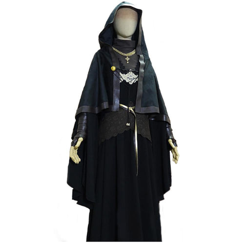 Dark Souls III Fire Keeper Costume Black Uniform Fabric and Suede Fabric Full Set of Cosplay Costume - Xcoser Costume
