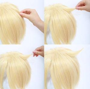 Dmmd Virus Wig Dramatical Murder Virus Trip Short Golden Anime Cosplay Wig - Xcoser Costume