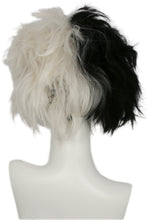 101 Dalmatians Cruella De Vil Wig Black and White Hair Anime Cosplay Wig - Xcoser Costume