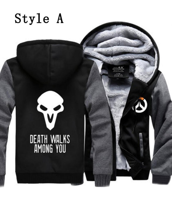 Overwatch Cosplay Hoodie Cotton Zip Up Sweatshirt Hoodie Unisex Size - Xcoser Costume