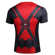 Deadpool T shirt X-Men Cosplay Cooldry Short Sleeve Sports T Shirt - Xcoser Costume
