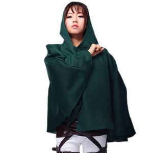 Attack On Titan Cosplay Survey Corps Cloak Levi Cosplay Cloak - Xcoser Costume