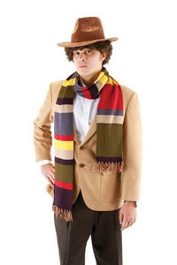Doctor Who 4th Scarf Tom Baker Striped Scarf with Tassel Cosplay Costume - Xcoser Costume