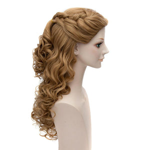 Cinderella Wig Beautiful Princess Cinderella Cosplay Long Curly Brown Wig
