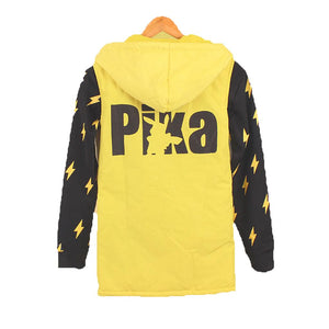 Cosplay Costume Pokemon Pikachu Cartoon Cotton T-shirt Sweater Vest Unisex Hoodie for Adults