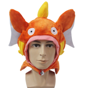 Pokemon Go Magikarp Plush Hat Orange Cotton Hat Free Size