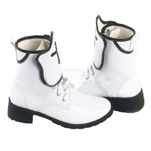 Asuna Shoes SAO Sword Art Onlie Game Cosplay White Ankle Boots Custom Made - Xcoser Costume