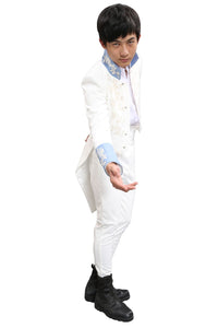 Prince Charming Costume Cinderella Dancing Party Clothing 2015 Film Cosplay Prince Green & White Outfit For Sale