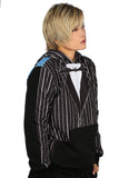 Jack Skellington Hoodie Awesome Blended Color Pullover Hoodie The Nightmare Before Christmas Cosplay Costume - Xcoser Costume