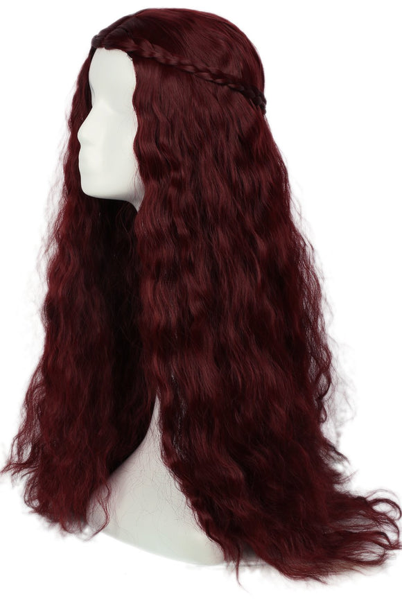 Halloween Melisandre wig Game of Thrones Wigs Costume Cosplay Long Wavy Curly Hair Accessories - Xcoser Costume