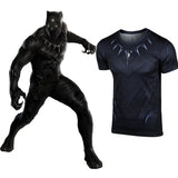 XCOSER Men's Black Panther T Shirt Costume Slim Fit