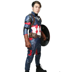 Steve Rogers Costume Captain America 3: Civil War Cosplay Outfits