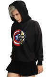 Captain America and Hydra Combined Logo Hoodie Captain America 3 Cosplay Costume