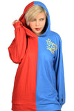 Xcoser Costume Suicide Squad Harley Quinn Hoodie Sweatshirt Cosplay for Adults