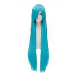 Bisca Mulan Cosplay Wig Fairy Tail Anime Long Straight Blue Costume Wig - Xcoser Costume