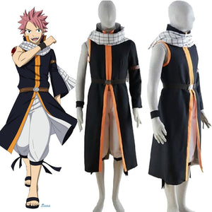 Natsu Dragneel Costume Fairy Tail Cosplay for Men and Women