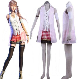 Xcoser Final Fantasy XIII Serah Cosplay Costume